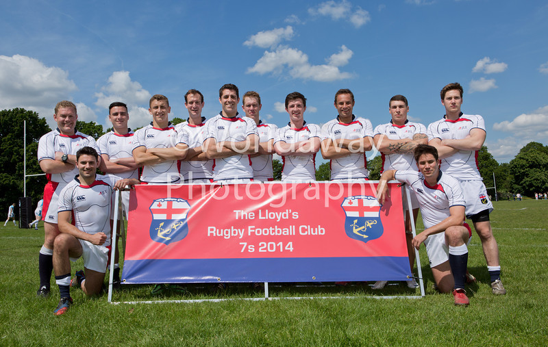 Lloyd's Rugby 7's Tournament. Richmond Athletic Ground. 15th May 2014. Team: JLT