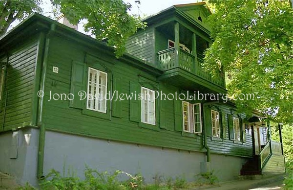 LITHUANIA, Vilnius. Green House Annex of the Jewish State Museum of Lithuania. (1997)