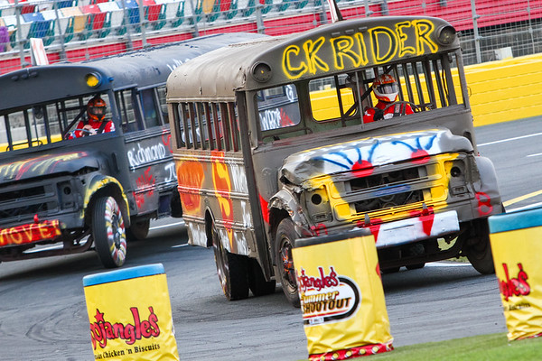 Tuesday School Bus Racing Charlotte Motor Speedway