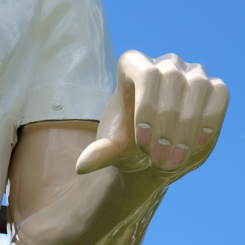 hancock Massachusetts muffler man nails