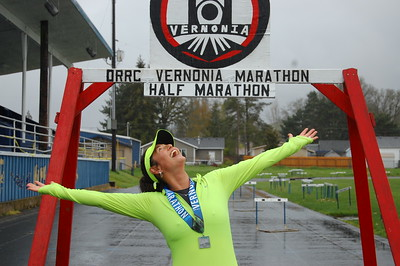 2018-04-15 Vernonia Marathon and Half Marathon Finish