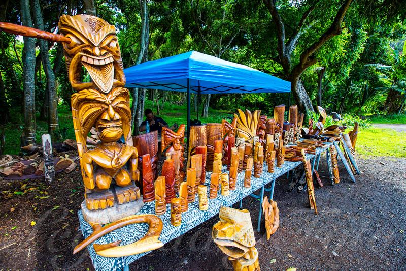Road Side Wood Carvings