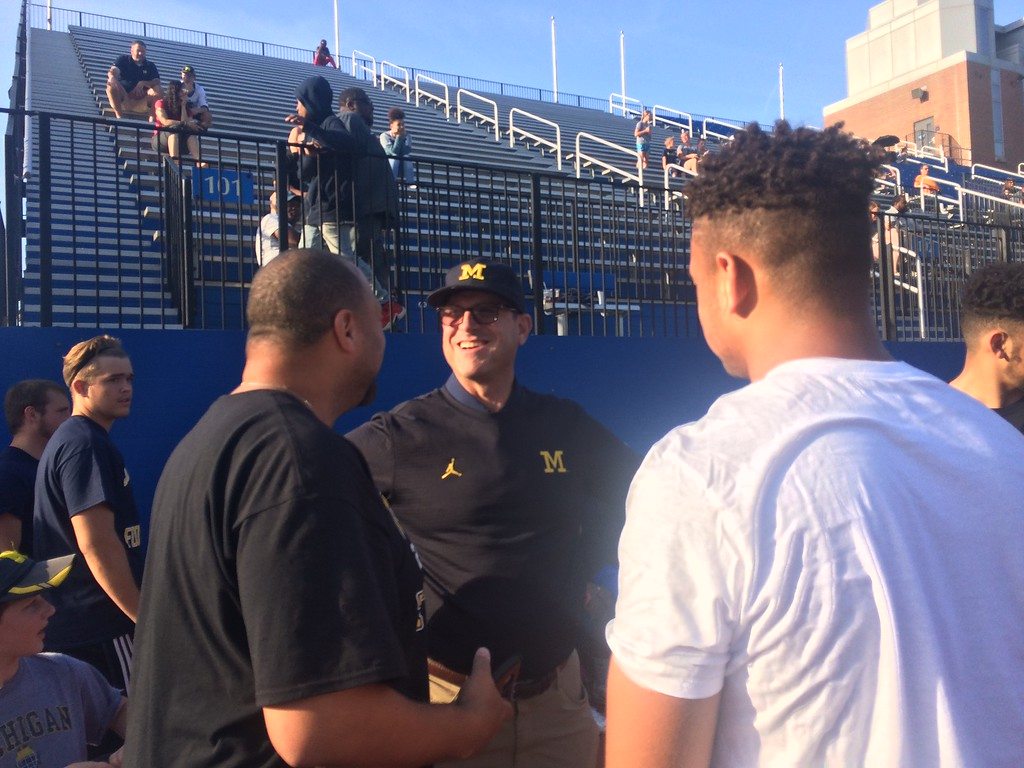 ". John Kampf - The News-Herald John Carroll hosted a Michigan satellite camp dubbed ""Light Up The End\"" on June 2 at Don Shula Stadium."