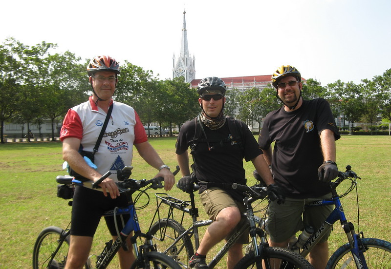 John, Scott & Greg at the Church of the Virgin Mary which was built in 1896