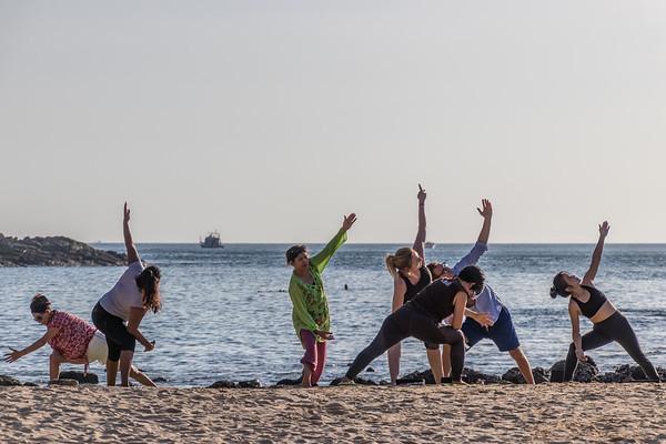 Beach Yoga by Mangosteen