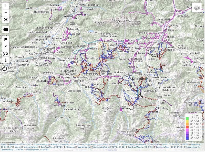 Mapa topográfico oficial austriaco en OpenSlopeMap