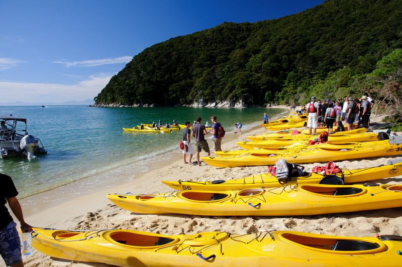Able Tasman kayaks trip