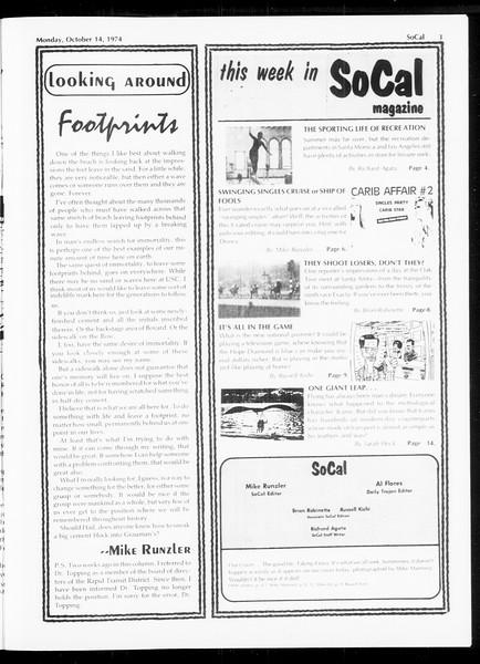 SoCal, Vol. 67, No. 21, October 14, 1974
