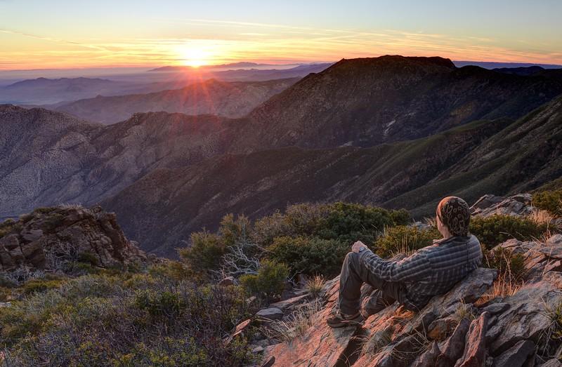 (2014-December 22)  Monument Peak Sunrise.  Cleveland National Forest, California.