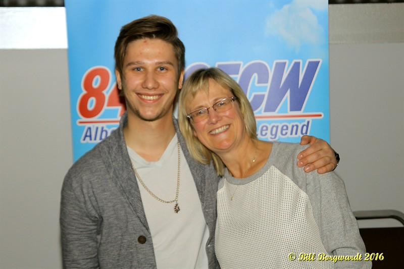 Jesse Mast with Jackie Rae Greening, Program Director, at 840 CFCW - Edmonton 125