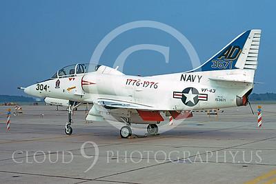 U.S. Navy A-4 Skyhawk Airplanes in Bicentennial Color Scheme