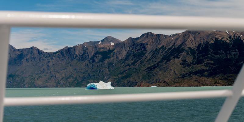 Iceberg floating on Lake Argentino, Los Glaciares National Park, Santa Cruz Province, Patagonia, Argentina
