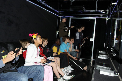 Students at the Game Truck Party