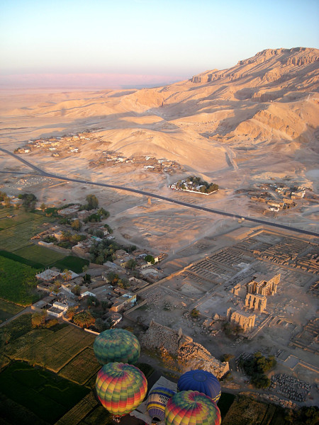 West  Bank view, Thebes