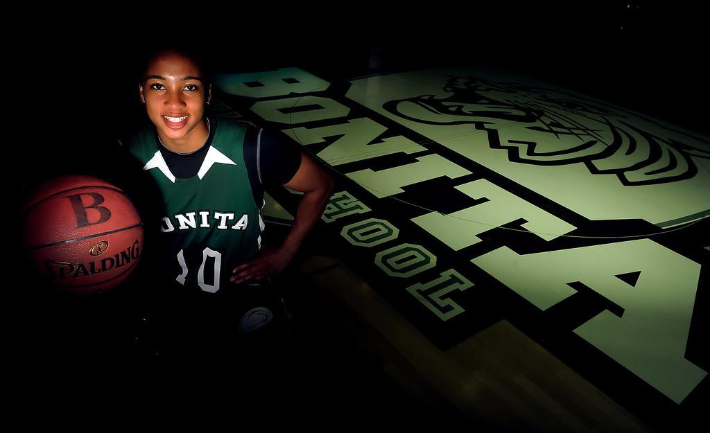 . Nikki Wheatley, girls basketball player of the year at Bonita High School on Thursday, March 28, 2013 in La Verne, Calif.  (Keith Birmingham Pasadena Star-News)