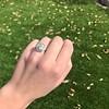 2.85ct Antique Cushion Cut Diamond Halo Ring 29