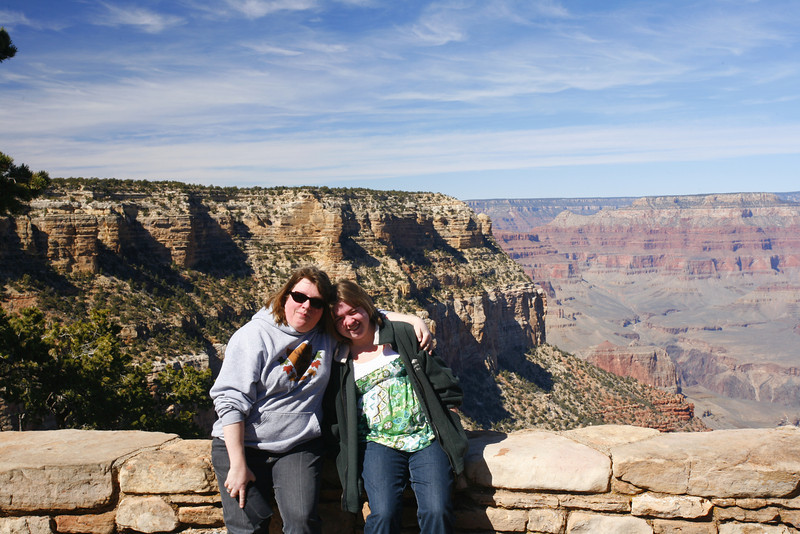 Susan and Kyra at Grand Canyon, AZ.  Aaron had made a trip back to the car for me, so missed out on the photo.