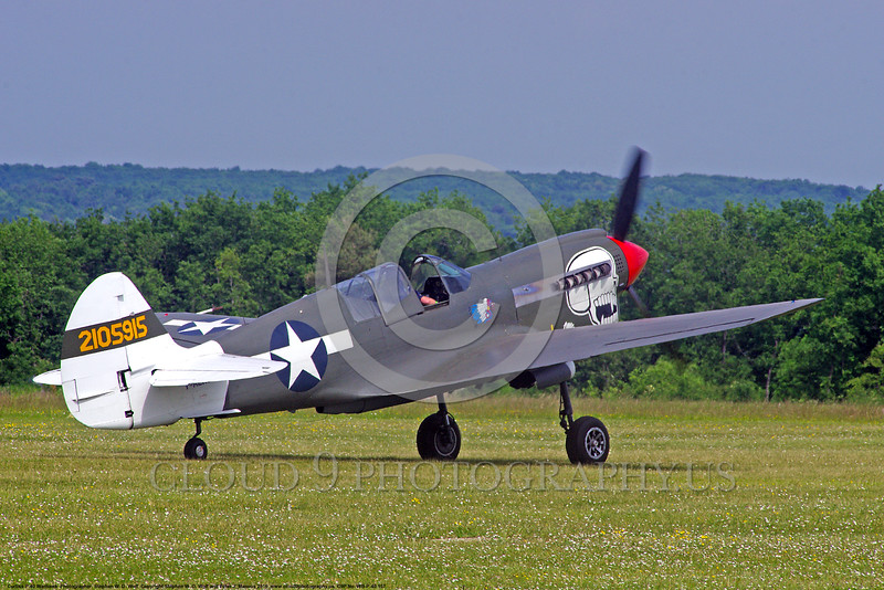 WB-Curtiss P-40 Warhawk 00157 A taxing skull head Curtiss P-40 Warhawk USA WWII era fighter warbird picture by Stephen W. D. Wolf.JPG