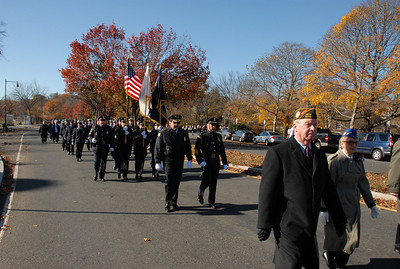William Parkman Marches in Veterans Day Parade on Nov 11, 2010
