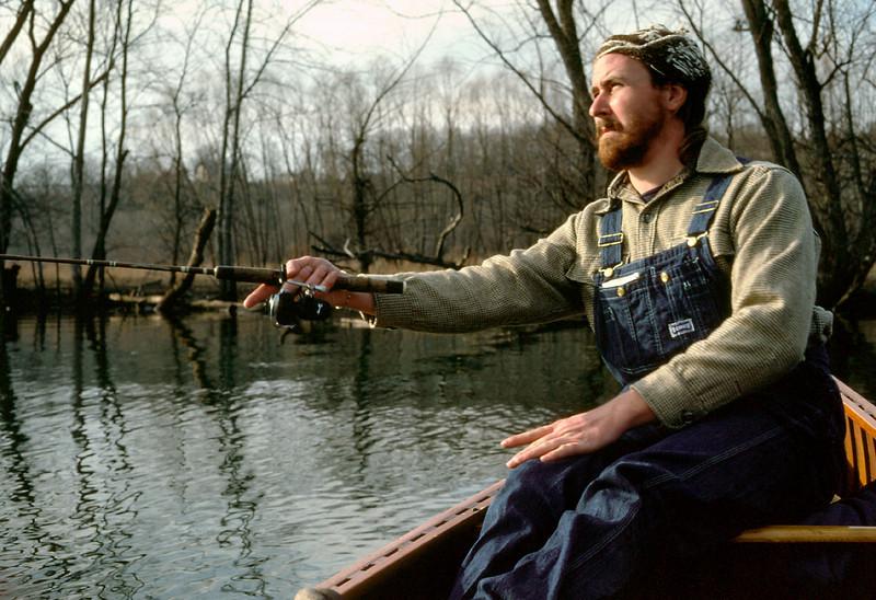 Trout fishing. Lake Taneycomo. Februrary, 1982.