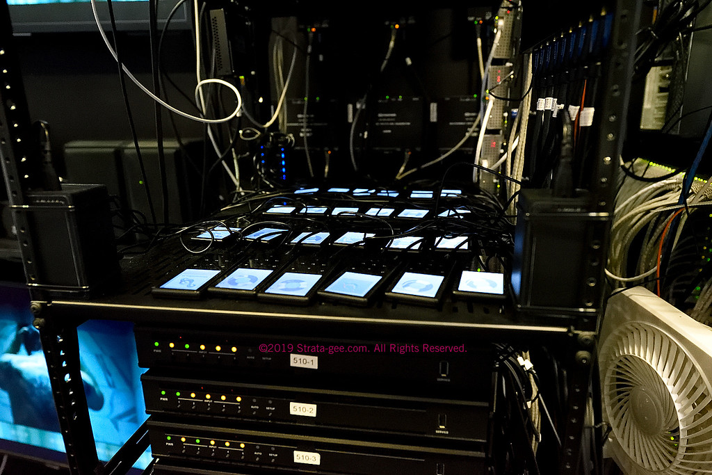 A large scale distributed audio solution under test with 24 iPods playing music