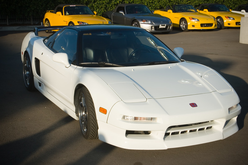 Pete would love to own a white NSX coupe