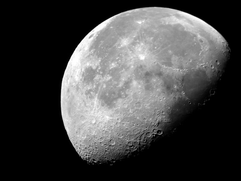Moon about 20 days old taken on Dec 9, 2006 with 8 inch Telescope,