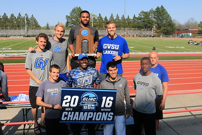 2016-05-06 GLIAC Outdoor Championship - Podium