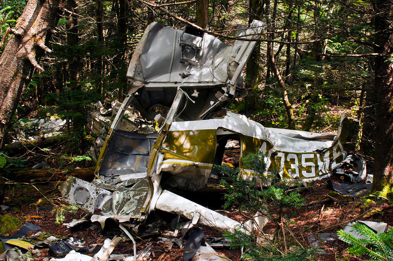 Site of the 1978 Plane Crash on Grandfather Mountain, on the Daniel Boone trail.  To learn more visit   http://sillymonkeyphoto.com/2010/08/29/there-was-a-plane-crash/