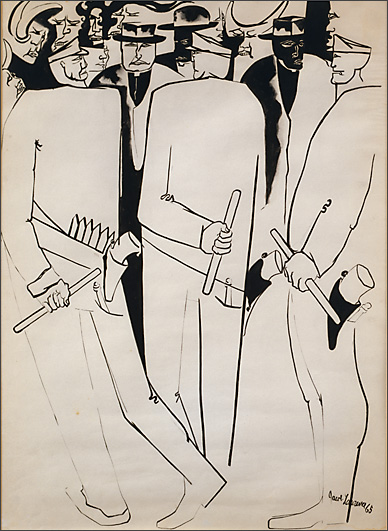 "Jacob Lawrence, ""Confrontation"" (1965)"