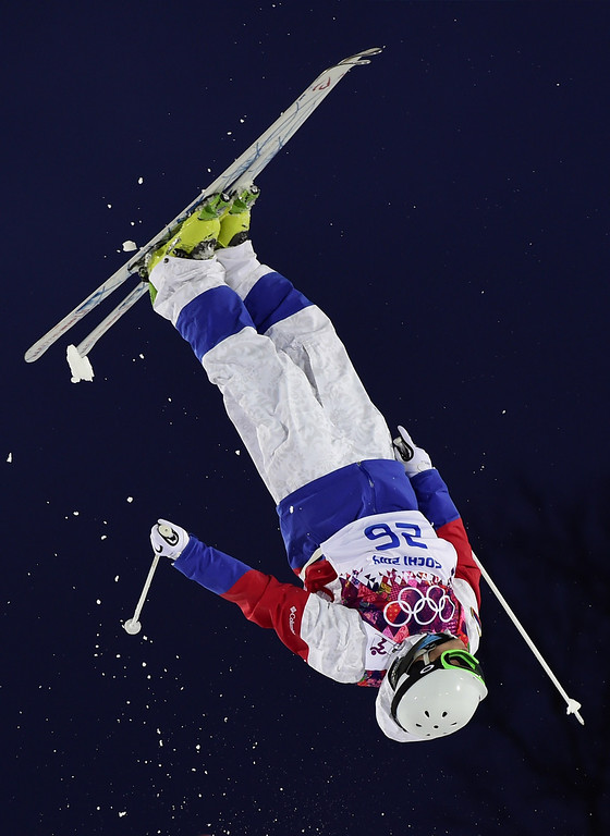 . Russia\'s Sergey Volkov competes in the Men\'s Freestyle Skiing Moguls qualifications at the Rosa Khutor Extreme Park during the Sochi Winter Olympics on February 10, 2014.      AFP PHOTO / JAVIER SORIANO/AFP/Getty Images