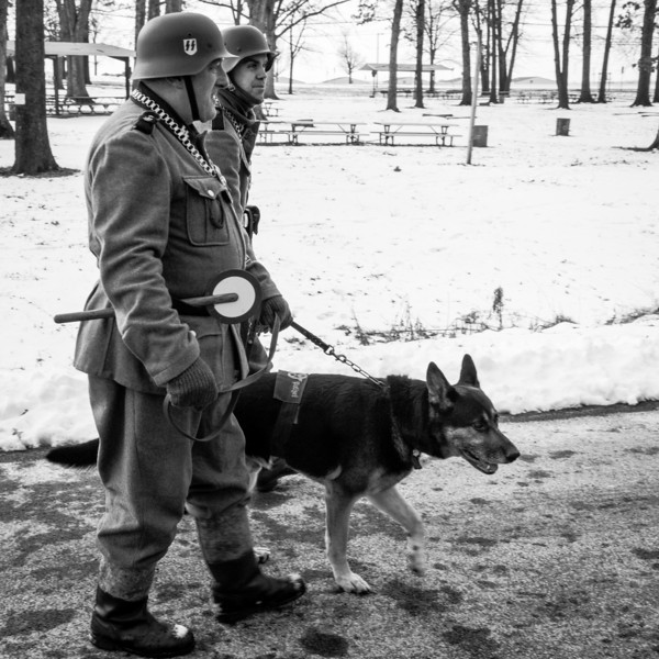 German patrol with German Sheppard