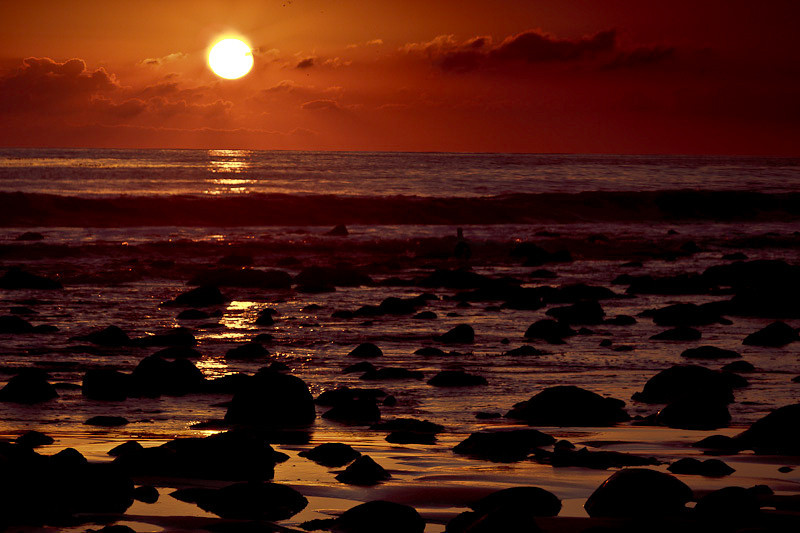 January 9 - Pacific Ocean sunset