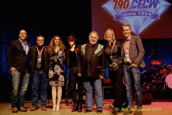 November 2, 2014 - CFCW 60th Anniversary concert with Brett Kissel & Gene Watson