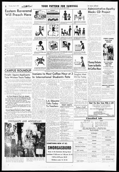 Daily Trojan, Vol. 48, No. 127, May 09, 1957