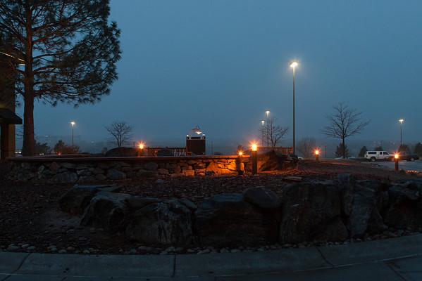 New Courtyard lights