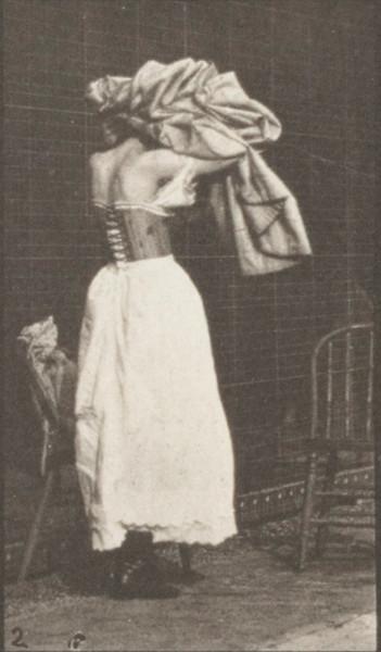 Woman dressing