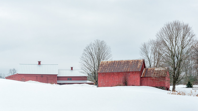 16x9 Red Barns of Vermont
