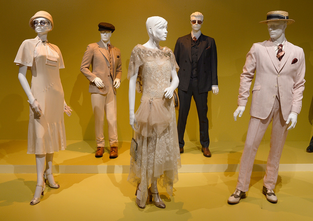 ". Costumes from ""The Great Gatsby.\"" FIDM/Fashion Institute of Design & Merchandising is hosting the Art of Motion Picture Costume Design, which features 100 costumes from over 20 selected films, including Oscar nominated designs. Los Angeles, CA. February 09, 2014 (Photo by John McCoy / Los Angeles Daily News)"