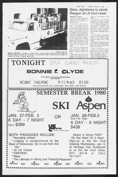 Daily Trojan, Vol. 87, No. 63, January 08, 1980