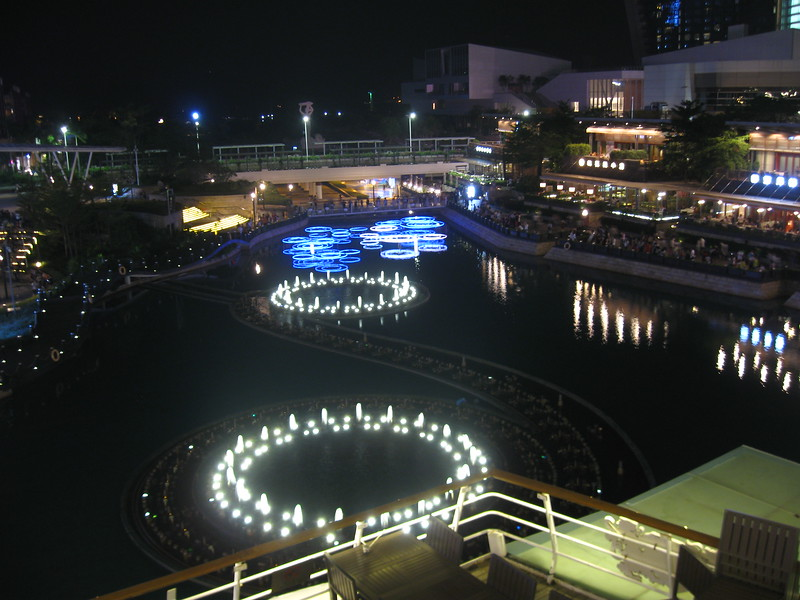 Getting ready to watch the water show from the top deck of the Minghua