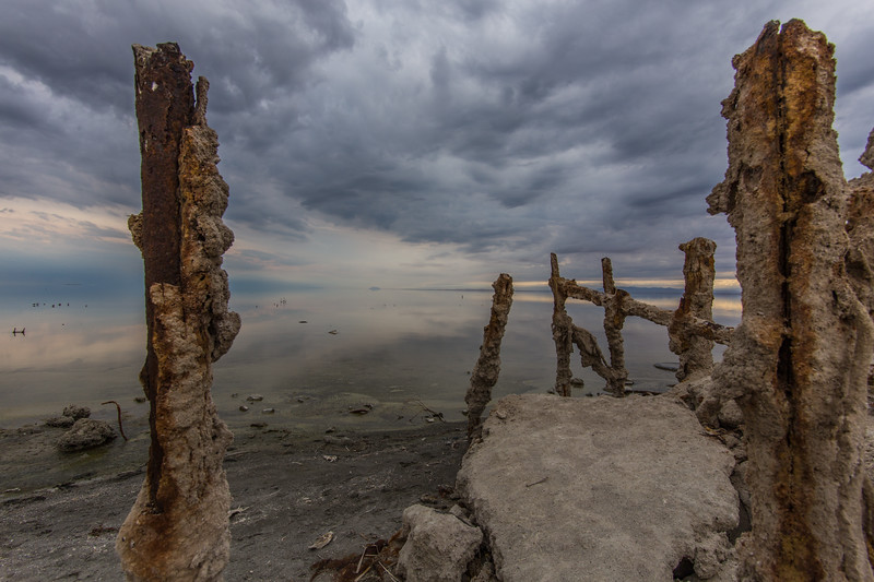 Crusty. A colorful cloudy day at Bombay Beach