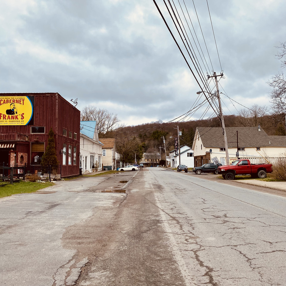 Main drag in Parksville -  Sullivan County - Parksville, NY
