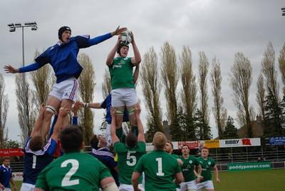 Ireland U19's v France 17.04.2014 by Ian Murray
