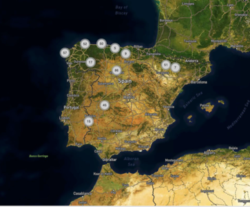 Map - Photo locations Spain