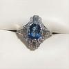 1.41ctw Art Deco Style Aqua and Diamond Dinner Ring 5