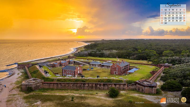 2019 Calendar - Amelia Island FL 09 September - Deremer Studios LLC