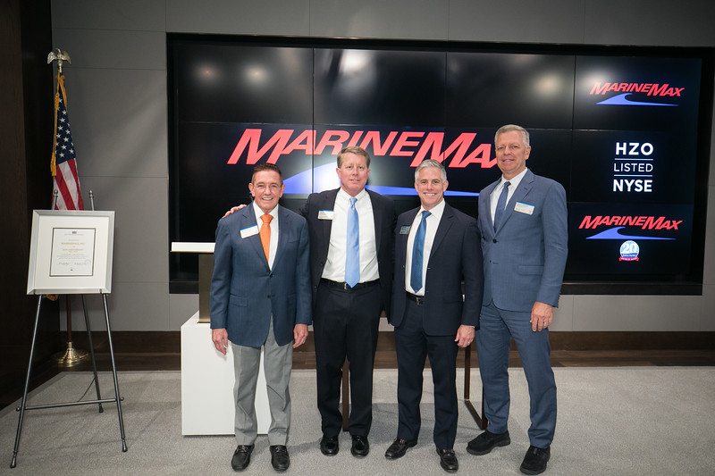 The New York Stock Exchange welcomes MarineMax, Inc. (NYSE: HZO) to celebrate its 20th anniversary of listing.  Chairman & Chief Executive Officer Bill McGill, joined by Jim Byrne, Head of U.S.Listings at NYSE, rings The Closing Bell®.
