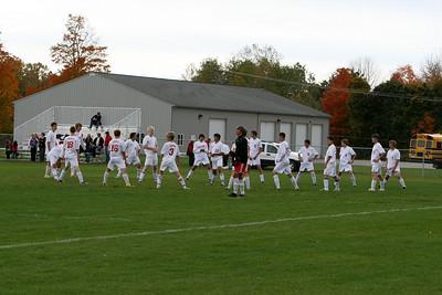 Boys Varsity Soccer - 2010-2011 - 10/14/2010 Muskegon (Parents' Night)