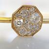 .95ctw Octagon Diamond Mosaic Bangle, Yellow Gold 6